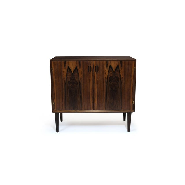 Small Danish Rosewood Cabinet With Brass Hinges For Sale - Image 9 of 11