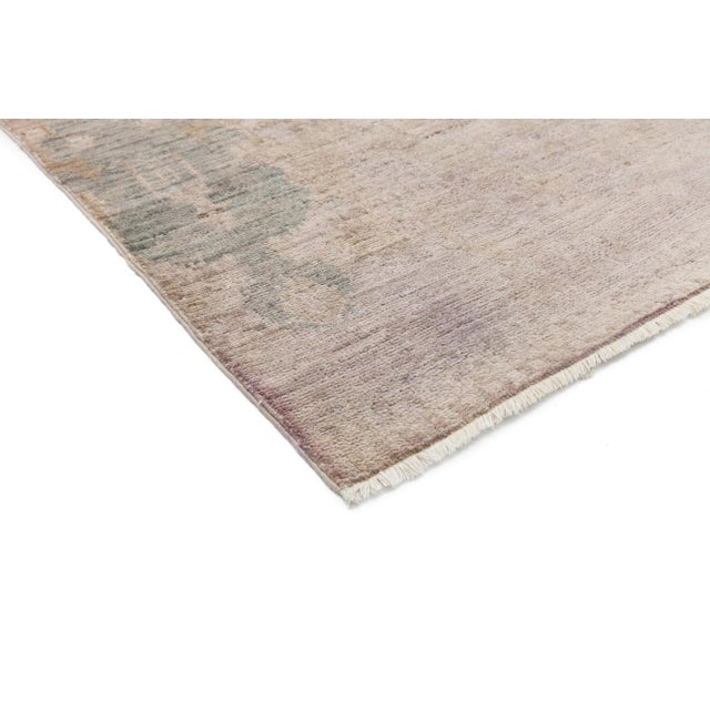 """Moroccan Hand Knotted Area Rug - 4' X 6'1"""" - Image 2 of 3"""