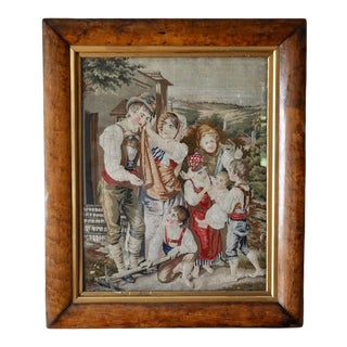 Antique Needlepoint Tapestry For Sale