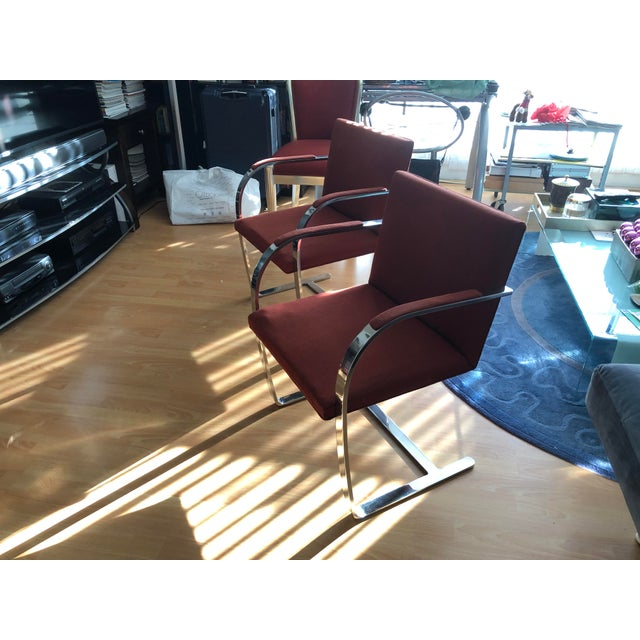 2 Vintage Brno Flat Bar Chairs by Knoll, 1970's, Original Fabric, in great shape, chrome has minor scratches. $350 each or...