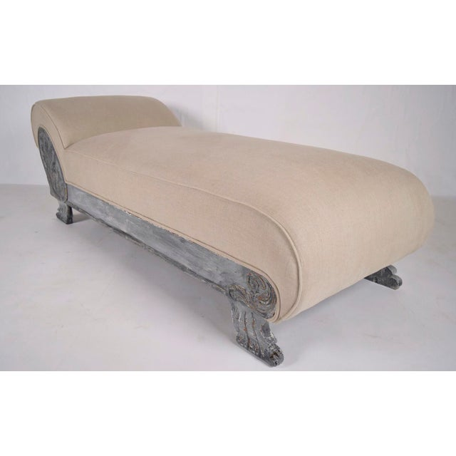 Vintage Painted Empire Chaise Longue - Image 3 of 7