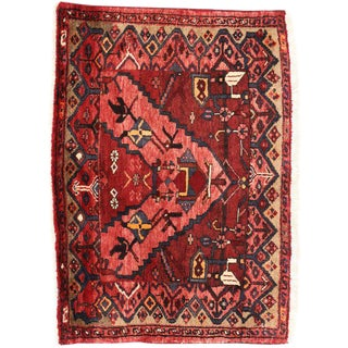 Vintage Persian Hamadan Accent Rug with Modern Style