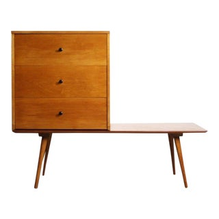 1960s Danish Modern Paul McCobb Planner Group Bench and Cabinet For Sale