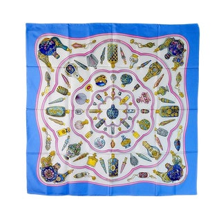 Hermes Qu'importe Le Flacon Silk Scarf For Sale