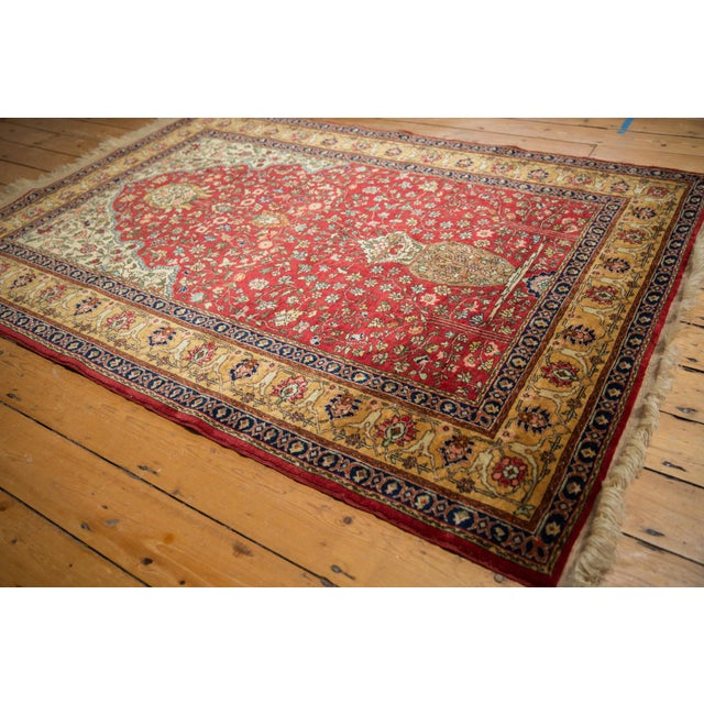 "Old New House Vintage Romanian Hereke Design Rug - 4'10"" X 7'6"" For Sale - Image 4 of 10"
