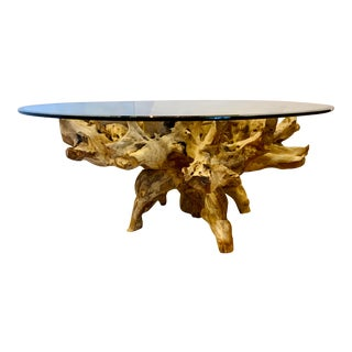 Organic Modern Driftwood Dining Table For Sale