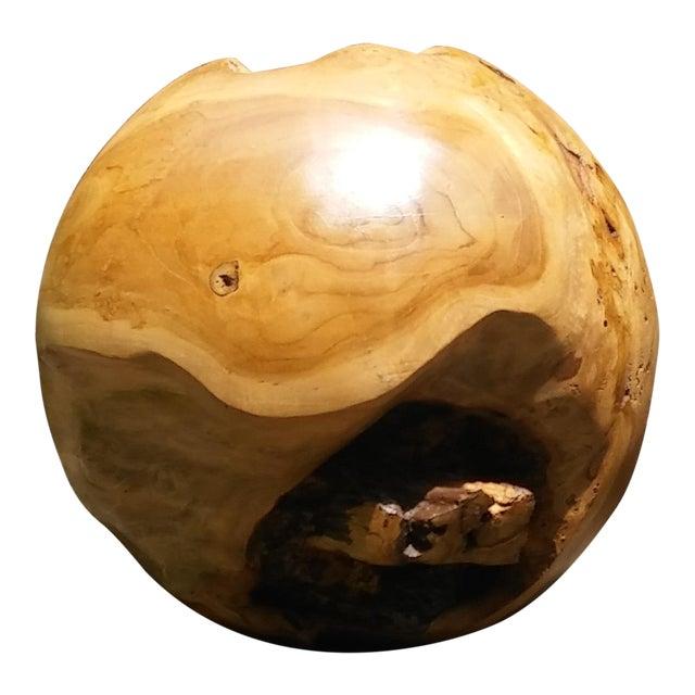 Turned Teak Root Sphere