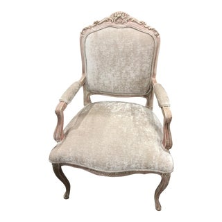 French Louis Style Blush Pink Arm Chair