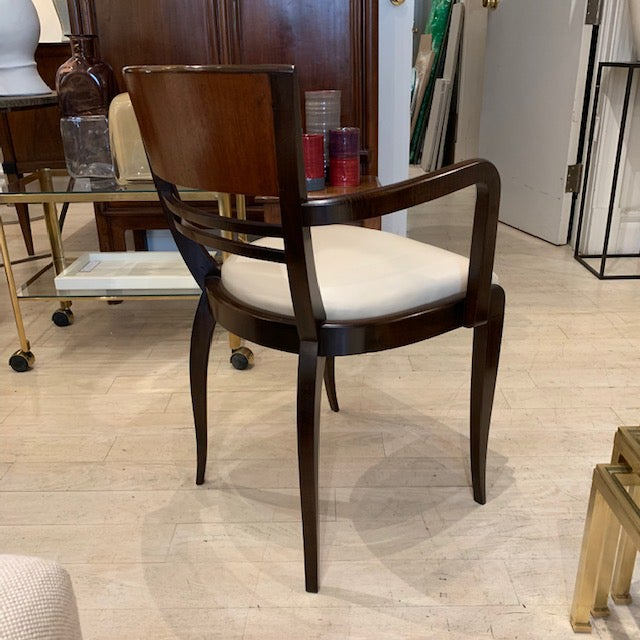 French Rosewood Curved Back Arm Chairs - a Pair For Sale - Image 4 of 7