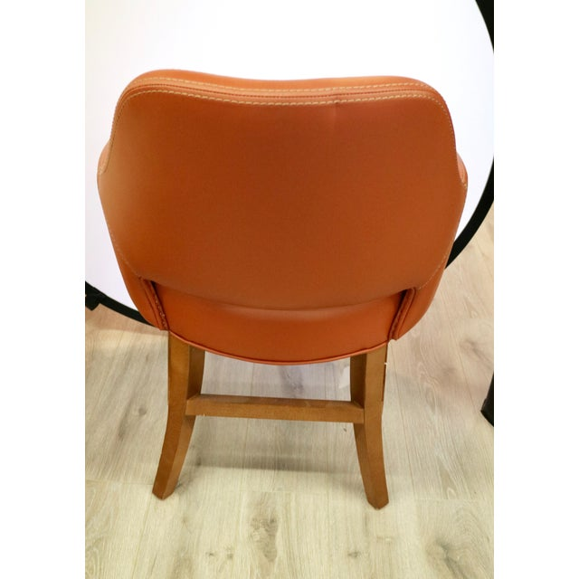 Contemporary Custom Leather Chair For Sale - Image 3 of 7