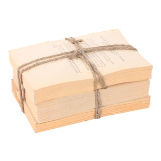 Weathered Words Collection, Unbound Natural Distressed Book Set, S/3 For Sale