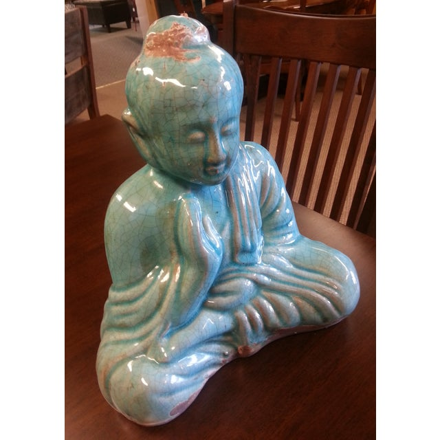Turquoise Sitting Buddha Statue For Sale - Image 5 of 8