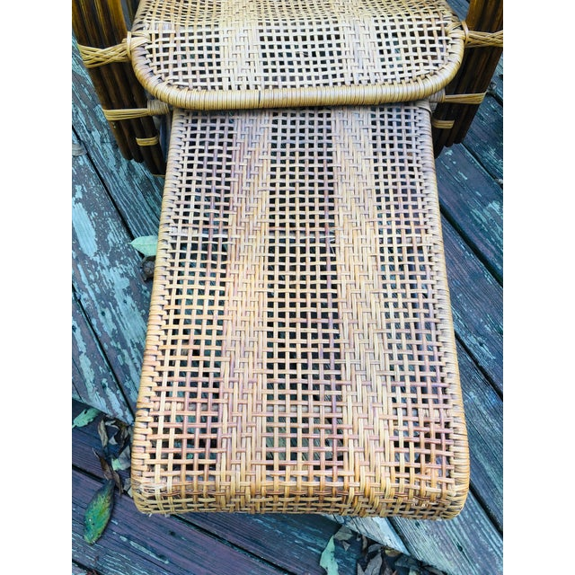 Vintage Mid Century Modern Franco Albini Lounge Chair & Side Table For Sale - Image 11 of 13