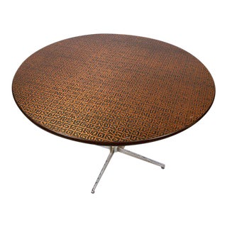 Hand-Hammered Copper Top Round Table, Circa 1950