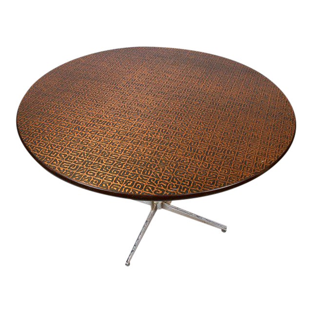 Hand-Hammered Copper Top Round Table, Circa 1950 - Image 1 of 3