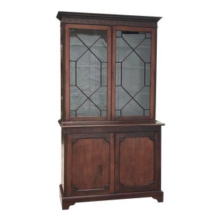 19th Century English Mahogany China Cabinet For Sale