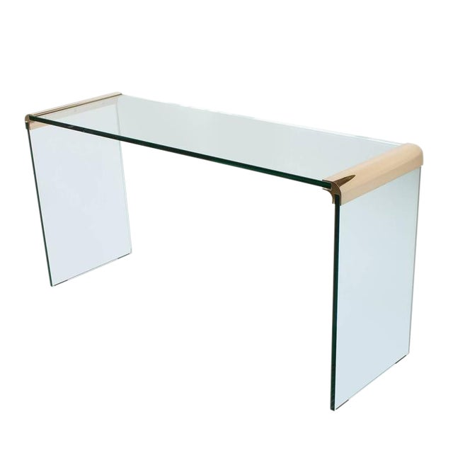 Leon Rosen for Pace Waterfall Console Table-Pair Available For Sale