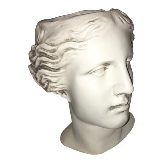 Grecian Woman Head Fiberglass Planter