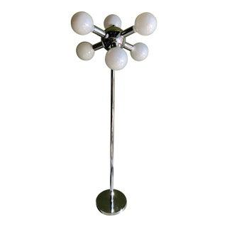 1970s Mid-Century Chrome 6 Bulb Floor Lamp For Sale