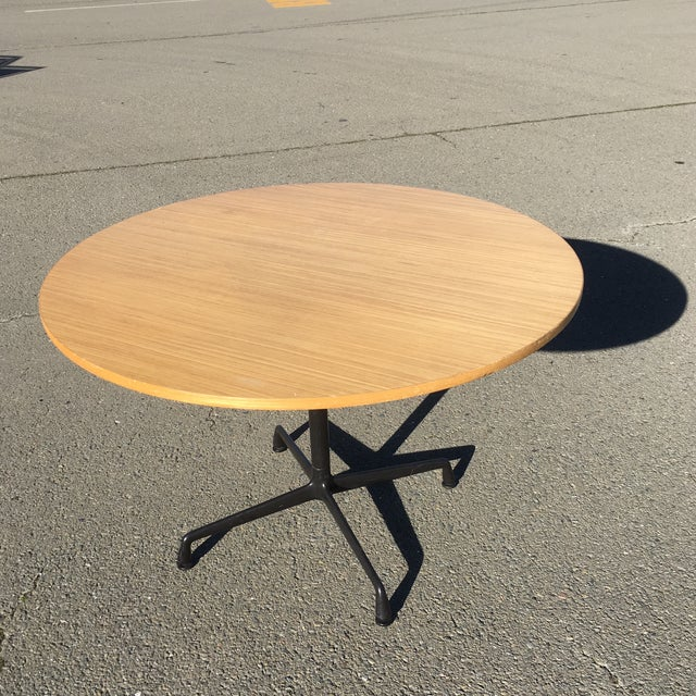 Herman Miller Wooden Round Table For Sale - Image 10 of 10