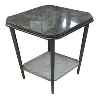 Modern Faux Stone Side Table For Sale