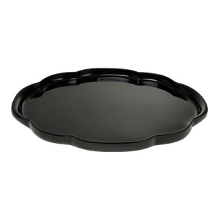 Oval Tray in Black - John Derian for The Lacquer Company For Sale