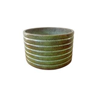 Gainey Glazed Green Textured Ceramic Planter