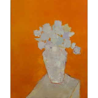 "Bill Tansey ""Orange Wall"" Abstract Oil Painting on Canvas For Sale"