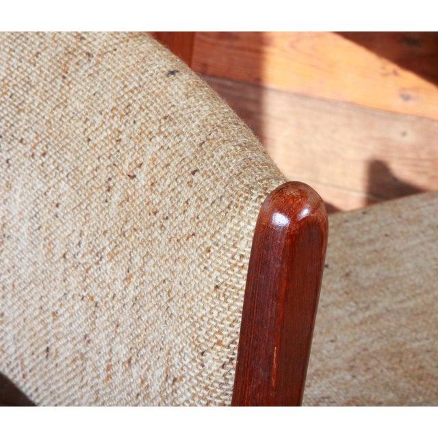 Vintage Teak Danish Modern Dining Chairs - Set of 4 - Image 4 of 9