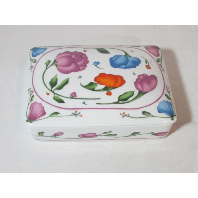 Horchow Porcelain Card Box With Cards For Sale - Image 6 of 6