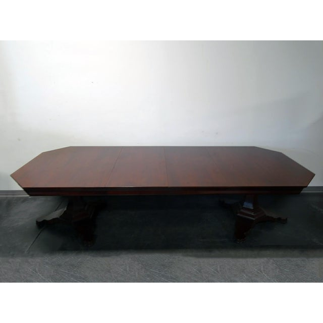 EJ Victor Transitional Double Pedestal Dining Table For Sale - Image 5 of 11
