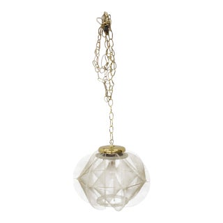 Lucite Fish Line Shade Light Fixture Pendant For Sale