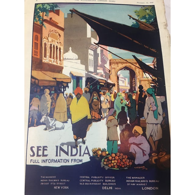 1935 'See India' Lahore Scene Ad For Sale - Image 5 of 11