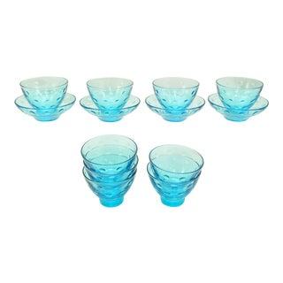 1960s Hazel Atlas Mid-Century Modern Capri Dot Bowls - Set of 13 For Sale