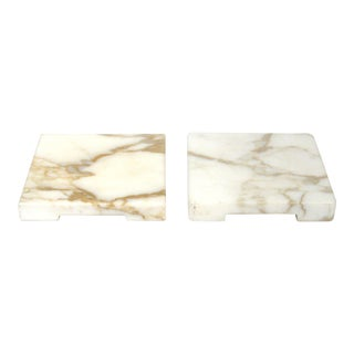 1950s Hollywood Regency Marble Stands - a Pair For Sale