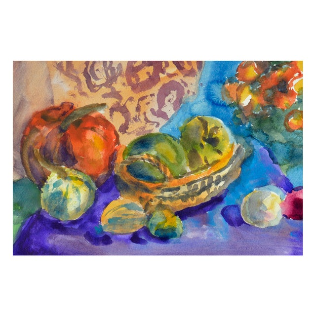 Les Anderson Harvest Still Life Painting - Image 4 of 4