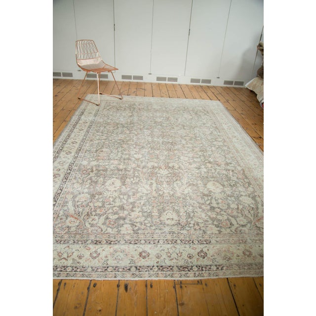 "Vintage Distressed Sivas Carpet - 7'2"" x 10'7"" For Sale - Image 9 of 9"
