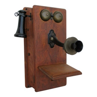 Antique Wall-Mount Telephone For Sale