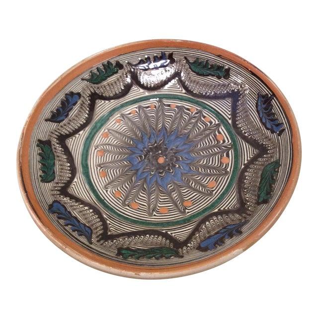 Handmade Romanian Pottery Bowl For Sale
