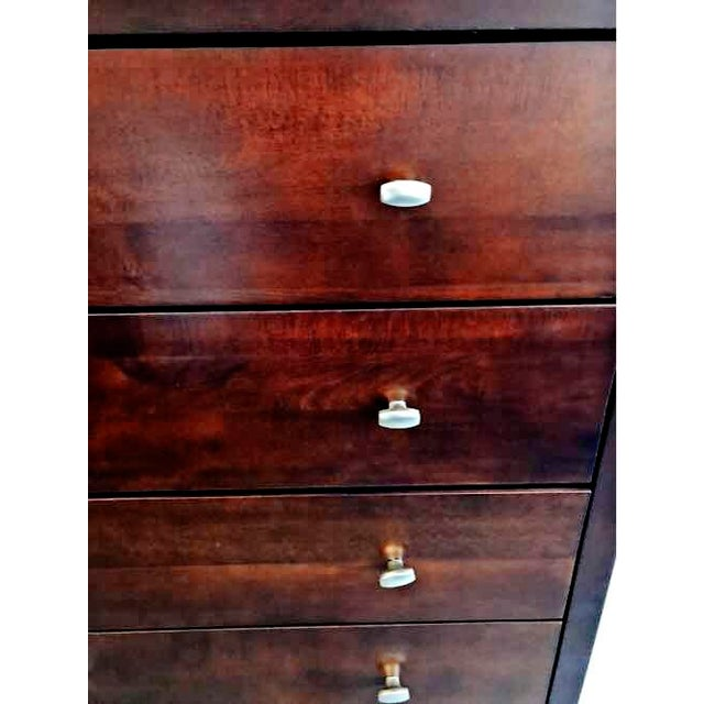 2000 - 2009 5 Drawer Solid Radiata Wood Multi-Coat Espresso Finished Dresser From Epoch by Design For Sale - Image 5 of 13