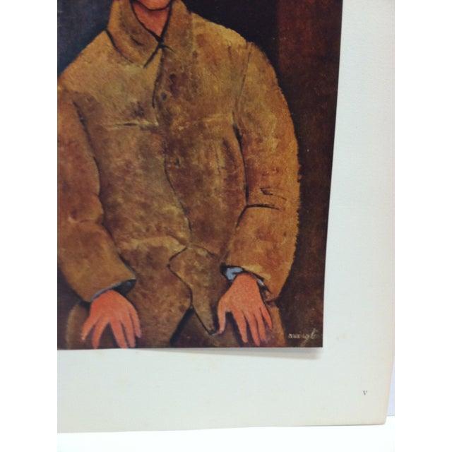 "Figurative 1947 Vintage ""Portrait De Soutine"" Modigliani French Mounted Color Print For Sale - Image 3 of 4"