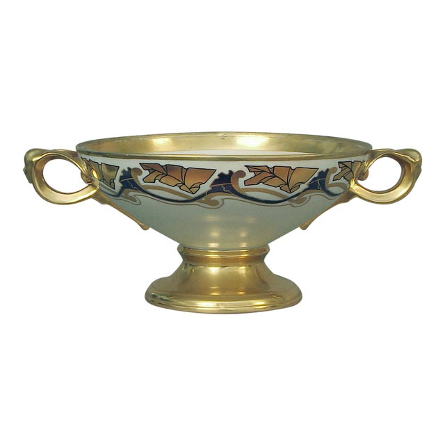 French Art Nouveau Centerpiece Bowl Attributed to Limoges For Sale