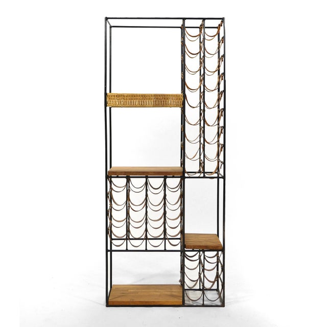 Red Arthur Umanoff Extra Large Wine Rack/ Shelving Unit For Sale - Image 8 of 11