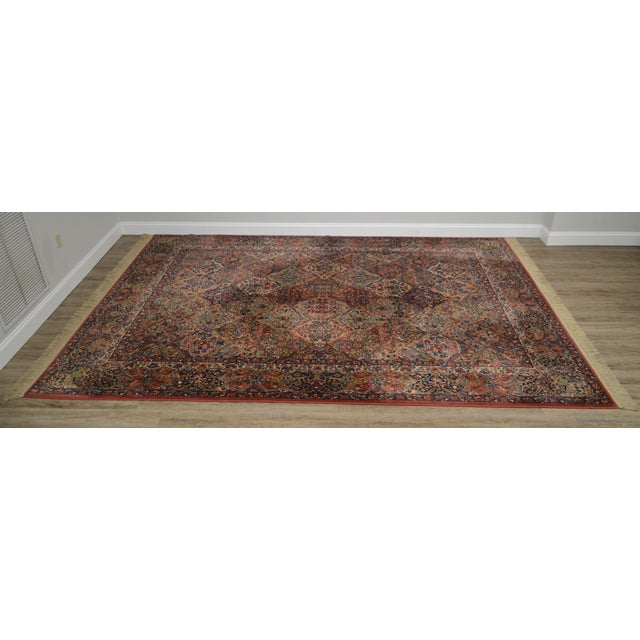 High Quality American Made Pre-Owned Multicolor Panel Kirman Large Rug Design # 717
