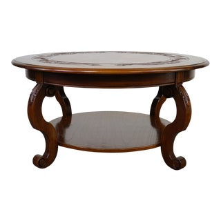 Italian Style Wooden Coffee Table For Sale