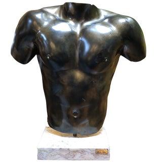 Contemporary Mounted Bronze Torso Sculpture