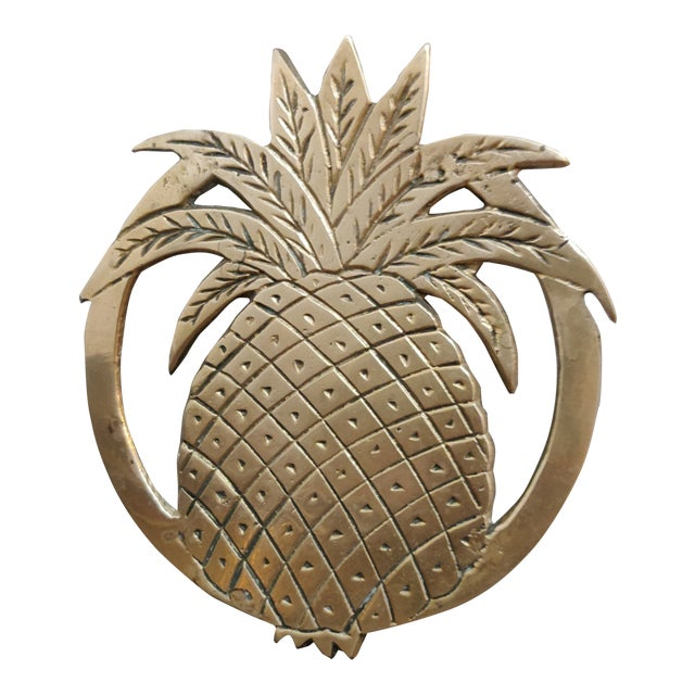 Hollywood Regency Pineapple Trivet For Sale