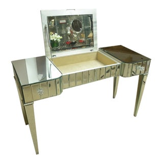 Fabulous Venetian Mirrored Poudre/Vanity For Sale