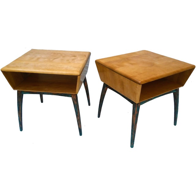 Heywood-Wakefield Side Tables - A Pair - Image 1 of 10