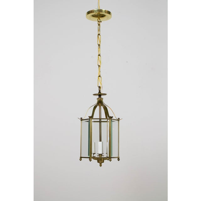 Hexagonal Beveled Glass Lantern For Sale - Image 4 of 4